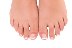 Nail care for women's feet Royalty Free Stock Photos