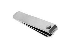 Nail clipper. Nail cutter on white background royalty free stock image