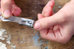 Nail clipper Royalty Free Stock Photography