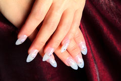 Nail design. On a beautiful background stock photo
