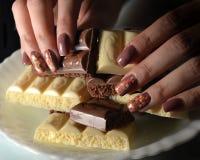 Nail design: all shades of sweet Stock Image