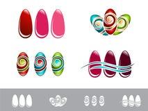 Nail Design Set Stock Photos