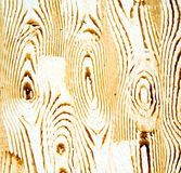 Nail dirty stripped paint in the brown wood door and rusty  yellow Royalty Free Stock Image