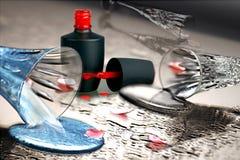 Nail enamel Stock Photo