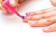The nail enamel Stock Photography