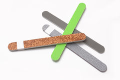 Nail file. Colored nail on white background Royalty Free Stock Images