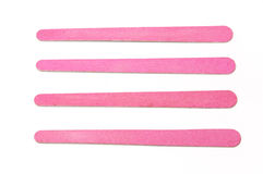 Nailfile. Nail files pink for filing her nails and well dejartelas Stock Photo