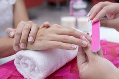 Nail filing Royalty Free Stock Photo