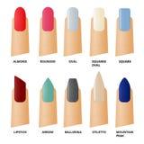 Set icons female manicure Stock Photography