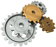 Nail between gears Royalty Free Stock Photos