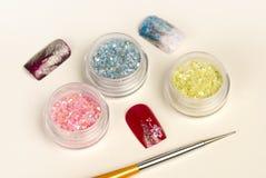 Nail glitter Stock Photo