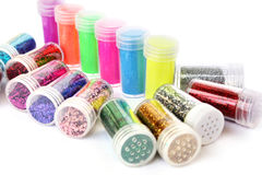 Nail glitters Stock Images