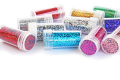 Nail glitters Stock Photography