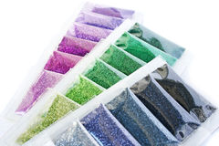 Nail glitters Royalty Free Stock Photo