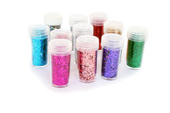 Nail glitters Royalty Free Stock Photography