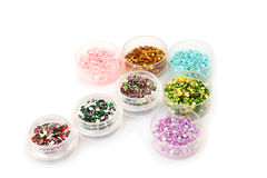 Nail glitters Stock Photos