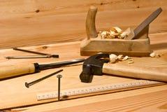 Nail and hammer Stock Photo