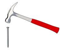 Nail and hammer Royalty Free Stock Photos