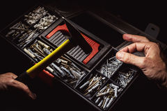 Nail and Hammer stock images