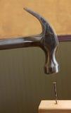 Nail Hammering Stock Image