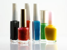 Nail lacquer collection Stock Image
