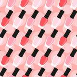 Nail lacquer or nail polish seamless pattern Stock Photos