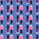 Nail lacquer or nail polish seamless pattern Stock Photography