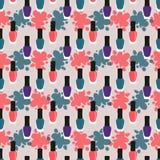 Nail lacquer or nail polish seamless pattern Royalty Free Stock Photo