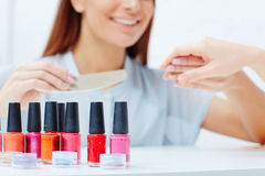 Nail lacquers Stock Photo