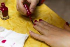 Nail making Stock Photo