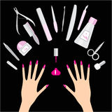 Nail and manicure Stock Images