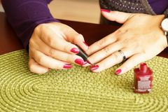 Nail painting Royalty Free Stock Photo