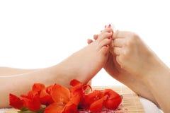 Nail pedicure at spa Stock Photography