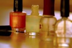 Nail Polish 1. Bottles of Fingernail Polish Stock Photo