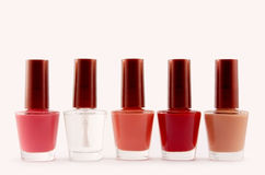 Nail polish. Isolated on white Royalty Free Stock Images