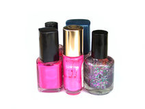 Nail polish. Group of nail polish stock images