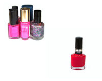 Nail polish. Group of nail polish royalty free stock images