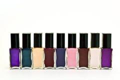 Nail Polish. Colored Nail Polish in a rectangular form stock images