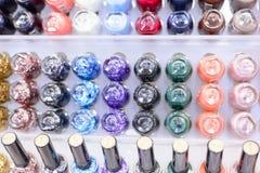 Nail Polish. Variety of colorful nail polish stock image