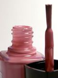Nail polish. Pink nail polish Stock Images