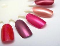 Nail polish. Palette of colors of nail polish Stock Image