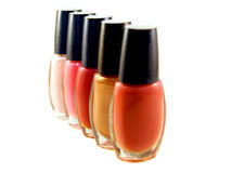 Nail Polish. A colorful line of nail polish Stock Photo