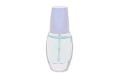 Nail polish. Colorless nail polish on white background Royalty Free Stock Image