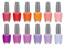 Nail polish. Color Nail polish in vector Stock Photos