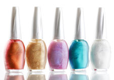 Nail Polish. On the white Royalty Free Stock Images