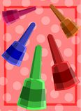 Nail polish background Stock Photography