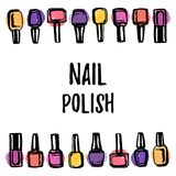 Nail polish background royalty free illustration