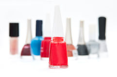 Nail polish background Stock Images