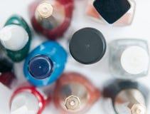 Nail polish background Stock Images