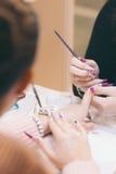 Nail polish in beauty shop Stock Photography